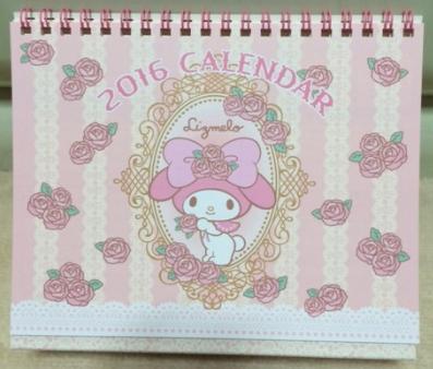 2016年の手帳&卓上カレンダーをサンリオオンラインストアで購入しました。