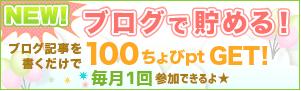 毎月参加できるのが素晴らしい!ちょびリッチ「ブログで貯める」で100Pゲット