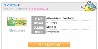 ファミマTカード発行だけで5,500円貰える!期間限定・ちょびリッチ経由