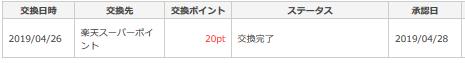 ポイントタウンは楽天スーパーポイントに1円から交換できる3.png