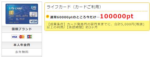 ライフカード、ポイントインカム経由で10,000円を稼ぐ方法