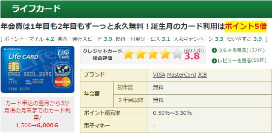ライフカード、Gポイント経由で最大7000円キャンペーン