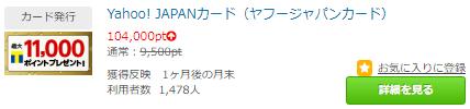 【最高還元】YJカード発行だけで98,000P(4,900円)ポイントタウン経由