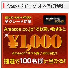 ECナビでAmazonギフト券プレゼントキャンペーン!