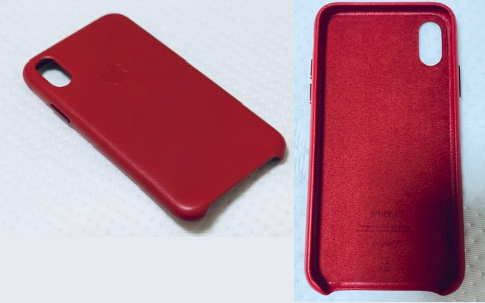 Apple純正iPhoneXSケースのレッド赤.png