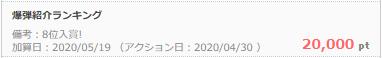 ちょびリッチ友達紹介2020年4月8位入賞.png
