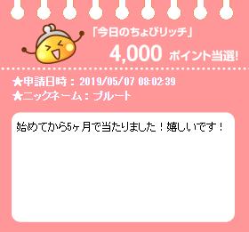 今日のちょびリッチ20190507.png